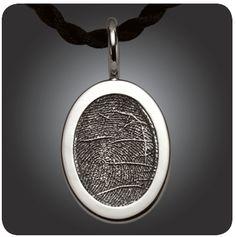 Beautiful fingerprint jewelry from imprintonmyheart.com