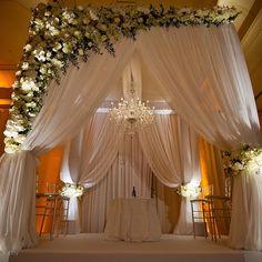 Soft sheer Chuppah @ritzcarlton with @melissa_davis_designs : @sharoneamit #alwaysflowersevents #alwaysflowersmiami #miamiweddings #wedding #decor #sheer #drape #chuppah #romantic #florals