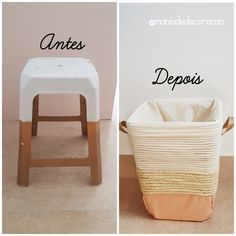 Diy Para A Casa, Rope Basket, Ideias Diy, Diy Home Crafts, Diy Room Decor, Home Decor, Diy Decorations For Home, Handmade Home, Diy Art