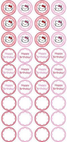 Free Printable Hello Kitty Cupcake Toppers Printable