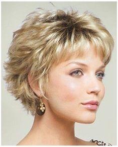 Modern Short Hairstyles, Short Layered Haircuts, Short Hairstyles For Thick Hair, Short Hair With Layers, Curly Hair Styles, Short Hair Cuts For Women Over 50, Short Hair Over 50, Natural Hairstyles, Popular Short Hairstyles