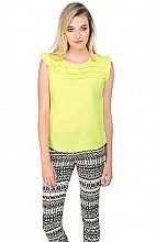 Jack Brisa Top - love this pop of spring color! Now at the Boutique!! #lime #lemon #love #spring #bright #neon #top #sweet #ruffle #work #daytonight #cute #sleeveless #blouse #fashion #style #theboutique #fif #fifonline