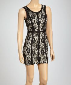 Another great find on #zulily! Black Lace Dress #zulilyfinds
