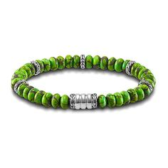 John Hardy Bedeg Mohave Green Turquoise Large Bead Bracelet ($395) ❤ liked on Polyvore featuring men's fashion, men's jewelry, men's bracelets, john hardy mens bracelets, mens bead bracelets and mens turquoise bracelets