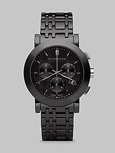 Burberry - Chronograph Watch with Ceramic Bracelet