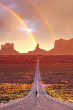 Rainbow riding.