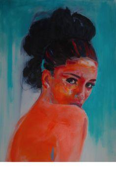 'Drawn' By David Rees, 150cm x 100cm, 2013, oil on canvas