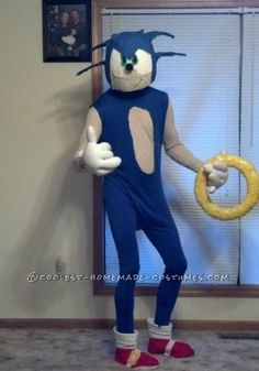 Coolest Homemade Sonic The Hedgehog Halloween Costume