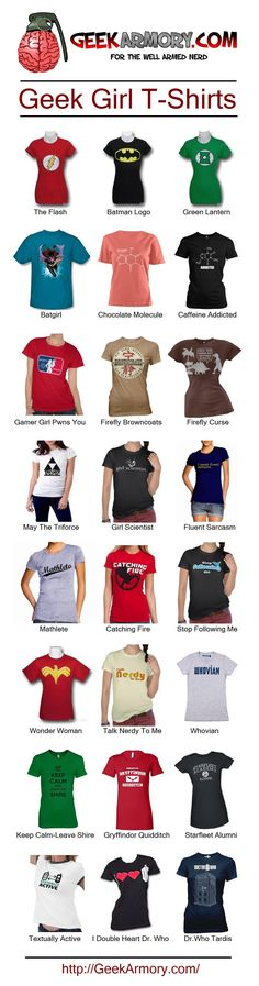 Geek Girl T-Shirts - http://geekarmory.com/category/geek-t-shirts/womens-geek-shirts/