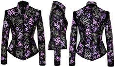 Purple Perfected - Custom Show Clothing   showmanship jacket, horsemanship shirt, show clothing, plus size show clothing, western show jacket