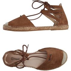 Bagatt Espadrilles (435 SEK) ❤ liked on Polyvore featuring shoes, sandals, camel, round cap, espadrilles shoes, flat espadrilles, round toe sandals and leather espadrille sandals