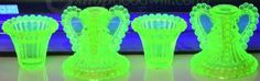 Green Uranium Vaseline Glass Dishes
