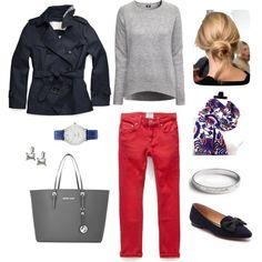 """""""Brighten a Gray Sweater"""" by bluehydrangea on Polyvore"""