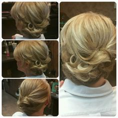 Great updo for above the shoulder hair.. hair by Bridgit