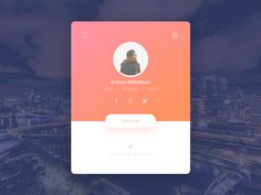 50 User profile page — Design Inspiration | by Muzli | Muzli - Design Inspiration Flat Web Design, App Ui Design, Mobile App Design, Interface Design, Page Design, Mobile Ui, User Interface, Design Design, Design Trends