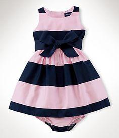 Ralph Lauren Childrenswear 9-24 Months Sateen Dress | Dillard's Mobile