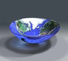 This pin is now closed! A winner has been selected for this round. Earth Cast Art Glass Bowl