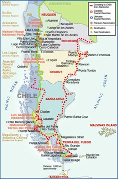 patagonia map Google Search Patagonia Chile & Argentina