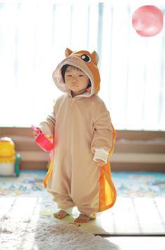Flying Squirrel Costume Animal Kigurumi Pajamas For Kids Cosplay Unisex Onesie