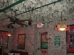 Mcguires Irish Pub In Pensacola Fl How Many Dollars Have Been Stapled To The Wall They Have To Count Every One For Taxes Where The Locals