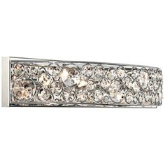 possini euro chrome and crystal bathroom light fixture one of these for the bathroom please