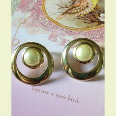 Pearls in Circles Vintage Earrings