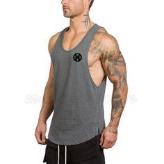 84adb4513060e Brand Clothing Gyms Stringer Tank Tops Mens Sleeveless T Shirts Man Summer  Cotton Bodybuilding