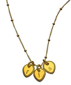 Naomi Gray 3 Initial Beaded Lotus Necklace