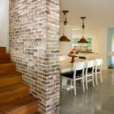 Elegant Brick Veneer Basement Wall