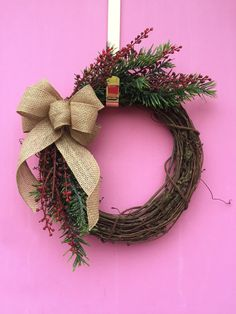 Rustic Christmas Wreath by AHolidayShoppe