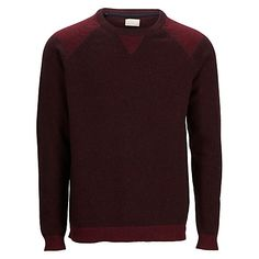 Buy Selected Homme Spleen Cotton and Wool Blend Crew Neck Jumper, Zinfandel from our Men's Jumpers & Cardigans range at John Lewis & Partners. Dark Denim Jeans, Mens Jumpers, Wool Blend, The Selection, Crew Neck, Cover Up, Men Sweater, Stylish, Sweatshirts