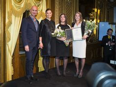 On January 27th, 2016, Crown Princess Victoria of Sweden attended the scholarship presentation ceremony at the Swedish Royal Opera organized by Micael Bindefeld Foundation in memory of Holocaust victims.