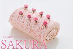 Sakura (cherry blossom) Roll Cake, Mont Blanc