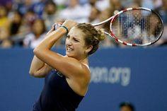 4/28/15 Timea Bacsinszky def. Evgeniya Rodina  6-3, 7-5 in the 1st rd in Marrakech #WTA #tennis.
