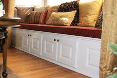 Beaded Raised Panel Wainscoting and Cabinet Doors in Bellmore NY by Wainscoting America Custom Cabinet Doors, Custom Cabinets, 5 Panel Doors, Raised Panel, Wainscoting Ideas, Living Room, Bedroom, Luxury, Storage