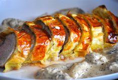 Dish Recipe: Filet mignon in foie gras crust with morel sauce by Agnes.f Dish Recipe: Filet mignon in foie gras crust with morel sauce by Agnes. Foie Gras, Mexican Dinner Recipes, Healthy Dinner Recipes, Tapenade, Toblerone Mousse, Filet Mignon Sauce, Filet Migon, Healthy Christmas Recipes, Food Tags