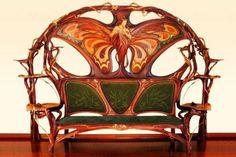 hierarchical-aestheticism: Art Nouveau Settee by Yuri Moshans