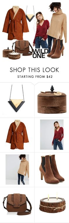 """""""Fall brown cozy look"""" by melka-gnome ❤ liked on Polyvore featuring Archipelago Botanicals, Osman, ASOS, Stradivarius, Paul Andrew, Mackage and Himalayan Trading Post"""