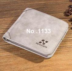 Vintage Designer Men Wallet Bifold Matte Leather Wallets Mens Small Trifold Purse Card Holder Business Brand Wallet For Men 1133