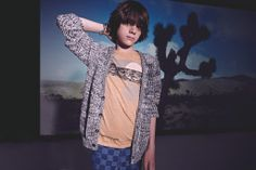 Paul Smith spring 2014 great boys chunky cotton knit cardigan from this cool British designer collection