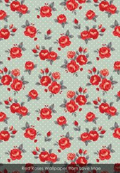 Red Roses wallpaper from Love Mae