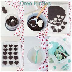 Tutorial Oreo truffles, Valentine's recipe, Cuori di Oreo, tartufi morbidi al cioccolato | Chiarapassion