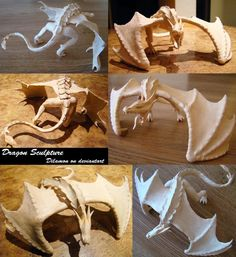 Dragon Sculpture Progress by Dilamon on DeviantArt Polymer Clay Dragon, Polymer Clay Crafts, Dragon Crafts, Dragon Art, Clay Animals, Sculpture Clay, Ceramic Sculptures, Clay Projects, Clay Creations