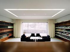 Selux recessed linear lighting with lit corners - no shadows!