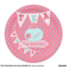 Paper PlatesMonkeys. Girlu0027s Birthday Tea Party Shabby-Chic Personalized  sc 1 st  Pinterest & Photo Fabulous 50s Happy Birthday Paper Plates | Photos 50 and ...