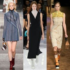 #Trend alert: conservative dressing was an unexpected change for many fashion houses and it couldn't have been more evident in the buttoned-up, high-collared looks that came down the runways. From dickies to turtle neck, its not typically the direction designers take for a spring season, but its one that might be a welcome antidote to all the sheer thats becoming a style standard.