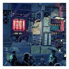 Blade Runner artwork by Laurie Greasley