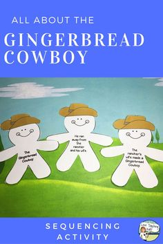 This Gingerbread Cowboy is a great book that students love. This sequencing activity is an easy graphic organizer that is fun for the students to do after they have read the story.