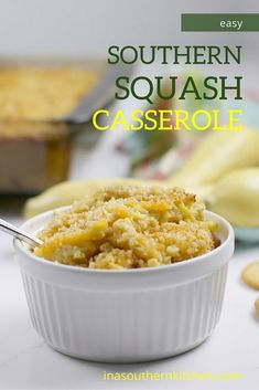 Southern squash casserole is a staple at any potluck gathering. With grated Cheddar cheese, crumbled Ritz crackers, and fresh summer squash, this squash casserole is a family favorite! Southern Squash Casserole, Easy Casserole Dishes, Easy Cooking, Cooking Recipes, Cooking Ideas, Pickled Cherries, Yellow Squash Recipes, Best Comfort Food, Comfort Foods