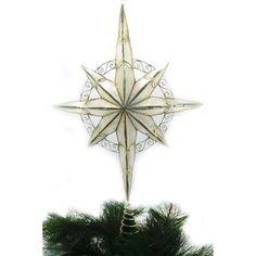 Holiday Time Capiz Gold Star Tree Topper -- For more information, visit image link.